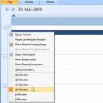 Microsoft Outlook: Feinere Zeiteinteilungen im Kalender