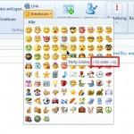 Emoticons mit Windows Live Mail schneller einfügen