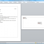 Word 2010: Umschlag direkt ins Dokument einbetten