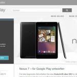 Googles Tablet Nexus 7 ab sofort in Deutschland zu haben