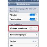 Facebook für iOS: Videos in HD-Qualität aufnehmen