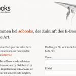 Die Social Books kommen (Sobooks)