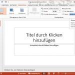 PowerPoint-Folien automatisch weiter blättern lassen