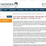 Sie fragen, Edward Snowden antwortet