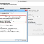 Web.de-Postfach in Outlook mit SSL-Verbindung einrichten