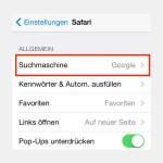 Standard-Suchmaschine von Safari in iOS ändern