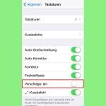 iOS: Wort-Vorschläge der Tastatur deaktivieren