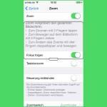 iOS: Inhalte des Bildschirms vergrößert darstellen
