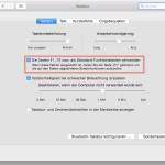 OSX: Funktions-Tasten ohne Fn-Taste nutzbar machen