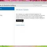 Windows 10: Auf neue Updates prüfen