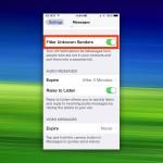 iOS: Nachrichten von unbekannten Kontakten ausfiltern