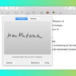 Mac: PDFs unterschreiben per Vorschau und Trackpad