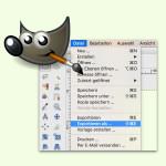 Bild speichern oder exportieren in GIMP: der Unterschied