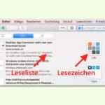 Safari-Browser: Webseiten für später speichern