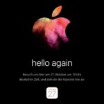 Neue Macs kommen: LIVE-Stream der Apple-Keynote