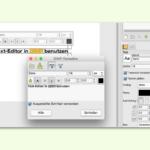 GIMP: Text-Editor zum Einfügen von Text-Ebenen verwenden