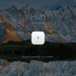 Mac über das Touch-Pad entsperren