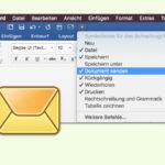 Word-Datei mit einem Klick als eMail senden