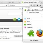 Multi Account Container: Getrennte Online-Identitäten in Firefox