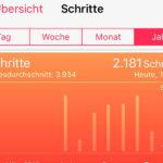 Schrittzähler im iPhone