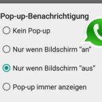 Pop-up-Benachrichtigungen in WhatsApp aktivieren