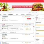 Preissuchmaschine für Pizza, Burger & Co.
